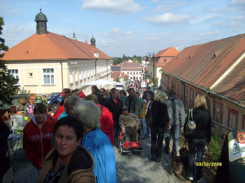 Pohled zpět na střed Boskovic