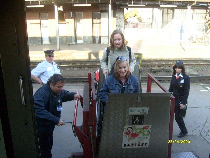 Nástup do vlaku v Olomouci hl.n.